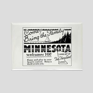 Thrilling Minnesota Retro Ad Rectangle Magnet