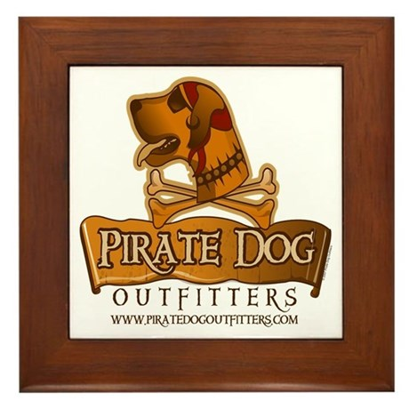 Pirate Dog Original Logo Framed Tile