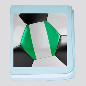 Nigeria Soccer Ball baby blanket