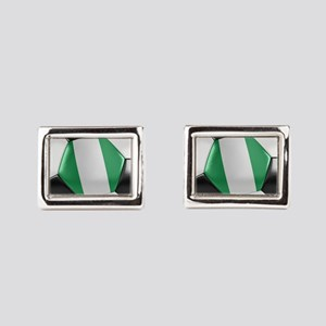 Nigeria Soccer Ball Rectangular Cufflinks