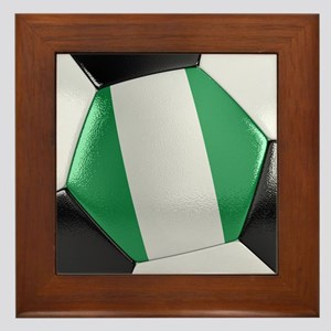 Nigeria Soccer Ball Framed Tile