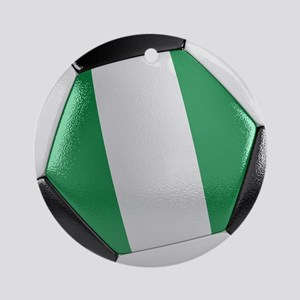Nigeria Soccer Ball Ornament (Round)