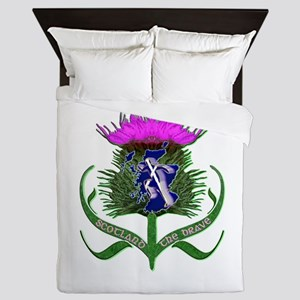 Scottish Runner And Thistle The Brave Queen Duvet