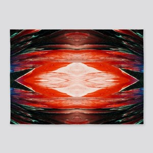 Tangerine Flash Rorschach 5'x7'Area Rug