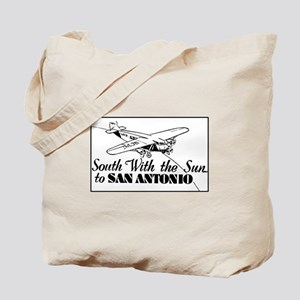 Retro San Antonio Texas Ad Tote Bag