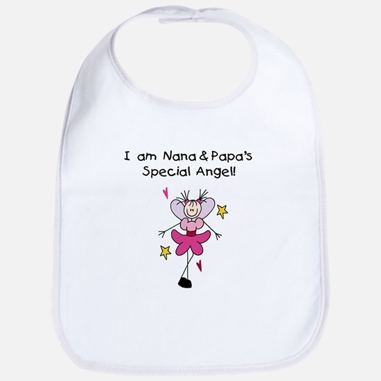 Nana and Papa's Angel Bib