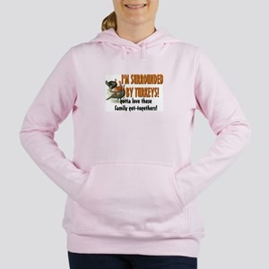 Surrounded by Turkeys Women's Hooded Sweatshirt