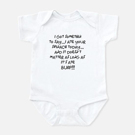 somethin to say Infant Bodysuit