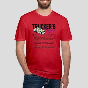 Trucker's Prayer Men's Fitted T-Shirt (dark)
