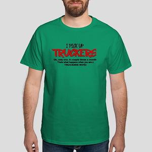 I Pick Up Truckers Dark T-Shirt