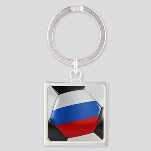 Russia Soccer Ball Square Keychain