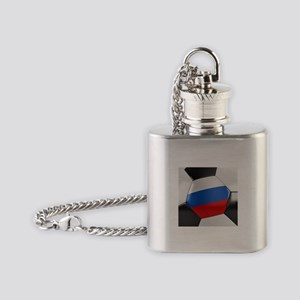Russia Soccer Ball Flask Necklace