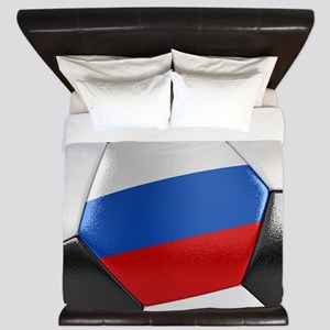 Russia Soccer Ball King Duvet