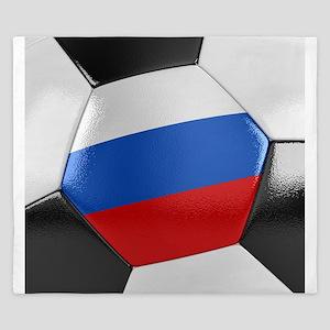 Russia Soccer Ball King Duvet