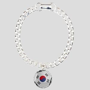 South Korea Soccer Ball Charm Bracelet, One Charm
