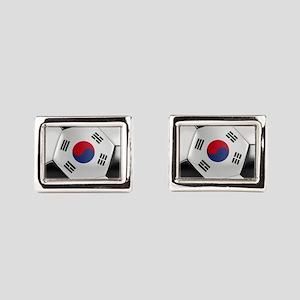 South Korea Soccer Ball Rectangular Cufflinks