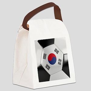 South Korea Soccer Ball Canvas Lunch Bag