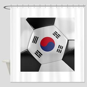 South Korea Soccer Ball Shower Curtain