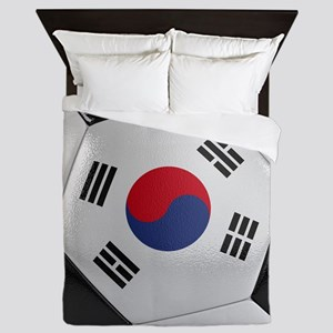 South Korea Soccer Ball Queen Duvet
