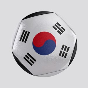 """South Korea Soccer Ball 3.5"""" Button"""