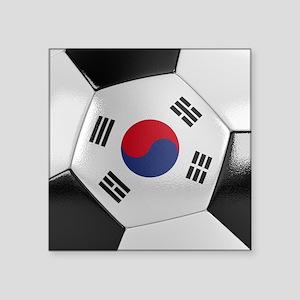 """South Korea Soccer Ball Square Sticker 3"""" x 3"""""""