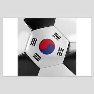 South Korea Soccer Ball Large Poster