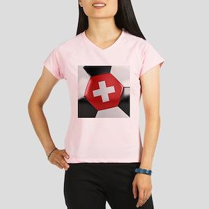 Switzerland Soccer Ball Performance Dry T-Shirt