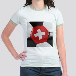 Switzerland Soccer Ball Jr. Ringer T-Shirt