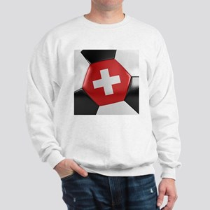 Switzerland Soccer Ball Sweatshirt