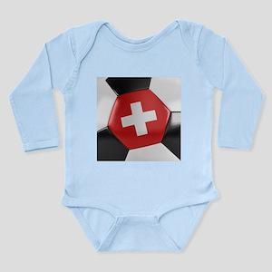 Switzerland Soccer Bal Long Sleeve Infant Bodysuit