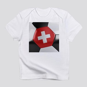 Switzerland Soccer Ball Infant T-Shirt