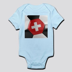 Switzerland Soccer Ball Infant Bodysuit