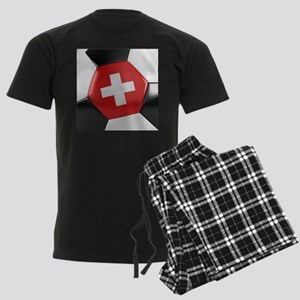 Switzerland Soccer Ball Men's Dark Pajamas