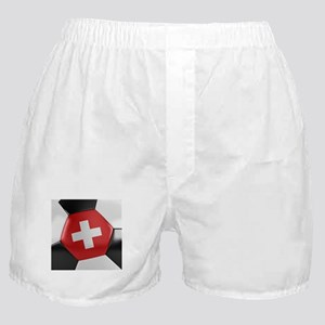 Switzerland Soccer Ball Boxer Shorts