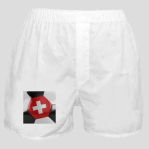 Switzerland Soccer Ball Boxer Shorts