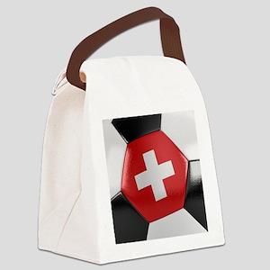 Switzerland Soccer Ball Canvas Lunch Bag