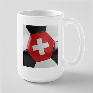 Switzerland Soccer Ball Large Mug