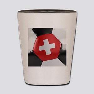 Switzerland Soccer Ball Shot Glass