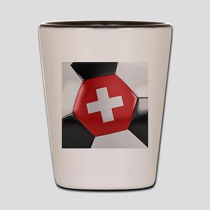 Switzerland Soccer Ball Shot Glass