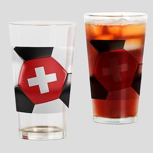 Switzerland Soccer Ball Drinking Glass