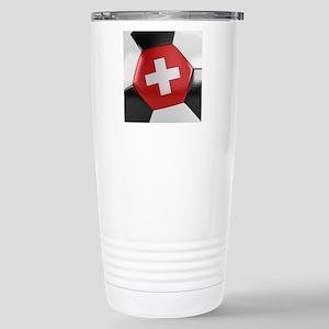 Switzerland Soccer Ball Stainless Steel Travel Mug