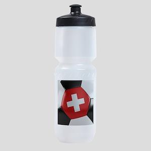 Switzerland Soccer Ball Sports Bottle