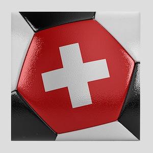 Switzerland Soccer Ball Tile Coaster