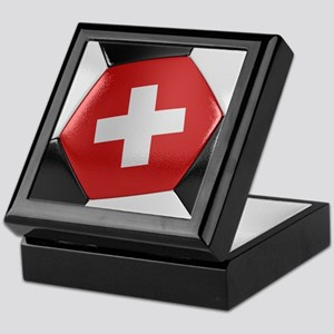 Switzerland Soccer Ball Keepsake Box