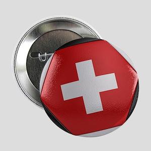 """Switzerland Soccer Ball 2.25"""" Button"""