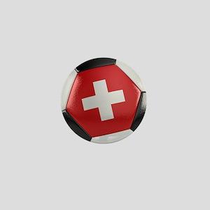 Switzerland Soccer Ball Mini Button