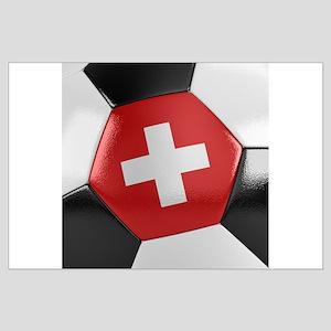 Switzerland Soccer Ball Large Poster