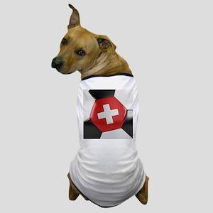 Switzerland Soccer Ball Dog T-Shirt