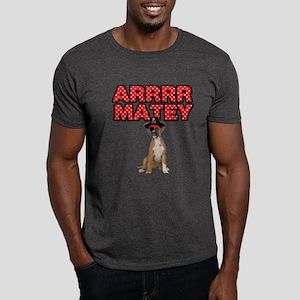 Pirate Boxer Dog Dark T-Shirt