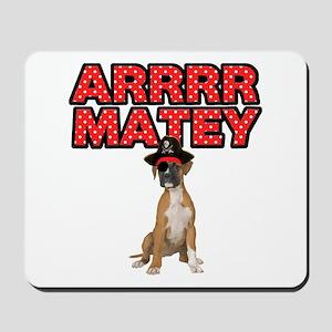 Pirate Boxer Dog Mousepad